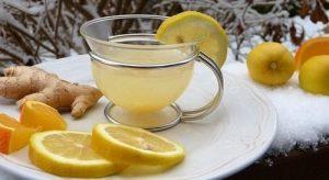 verse gemberthee met citroen